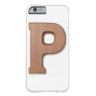 Chocolate letter p iPhone 6 case