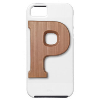 Chocolate letter p iPhone 5 cover