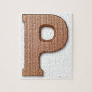 Chocolate letter p jigsaw puzzle
