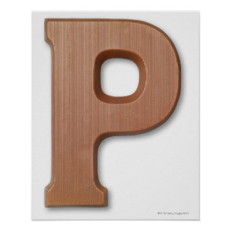 Chocolate letter p poster