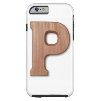 Chocolate letter p tough iPhone 6 case