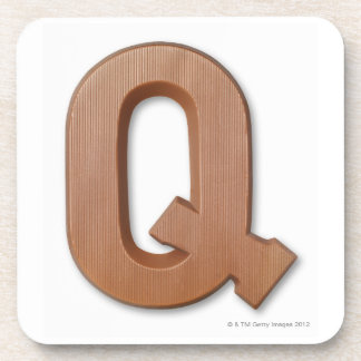 Chocolate letter q coasters