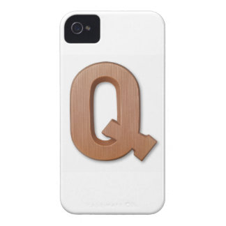 Chocolate letter q iPhone 4 cover