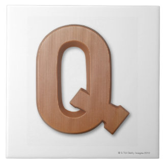 Chocolate letter q tile