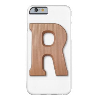 Chocolate letter r barely there iPhone 6 case