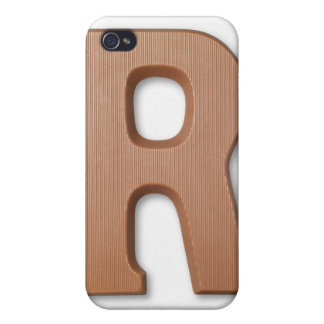 Chocolate letter r iPhone 4/4S covers