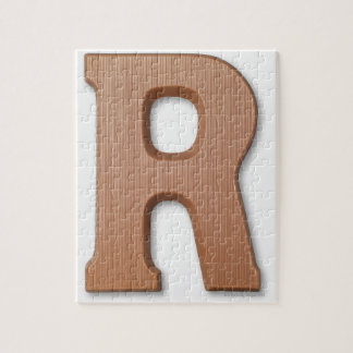 Chocolate letter r jigsaw puzzle