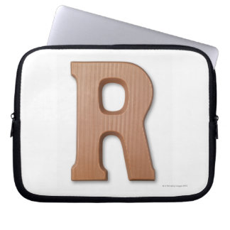 Chocolate letter r laptop sleeve