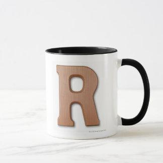 Chocolate letter r mug