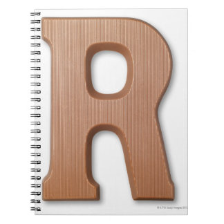 Chocolate letter r notebook