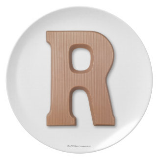 Chocolate letter r plate