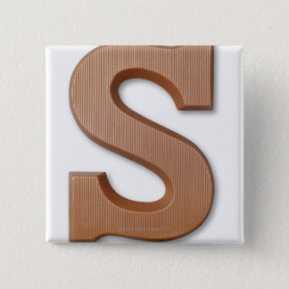 Chocolate letter s 15 cm square badge