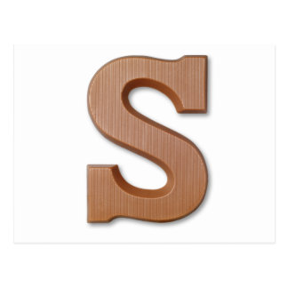 Chocolate letter S Postcard