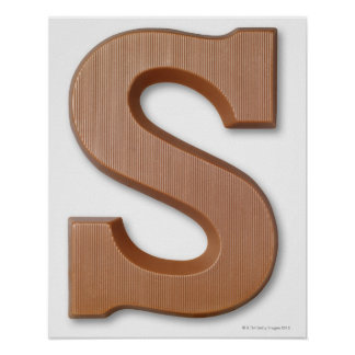 Chocolate letter s poster