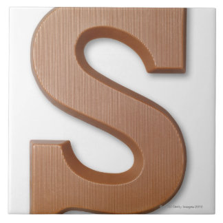 Chocolate letter s tile