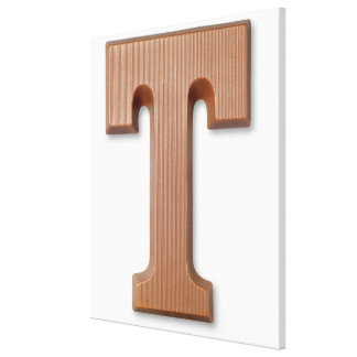 Chocolate letter t gallery wrap canvas