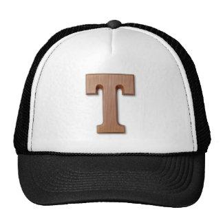 chocolate letter T Cap