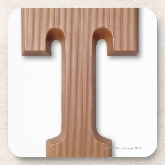 Chocolate letter t coaster
