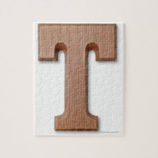 Chocolate letter t jigsaw puzzle