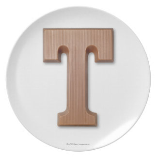 Chocolate letter t plate