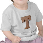 chocolate letter T Shirts