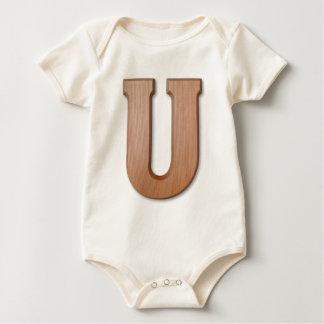 Chocolate letter U Baby Bodysuit
