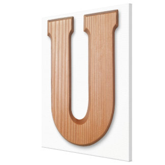 Chocolate letter u canvas print