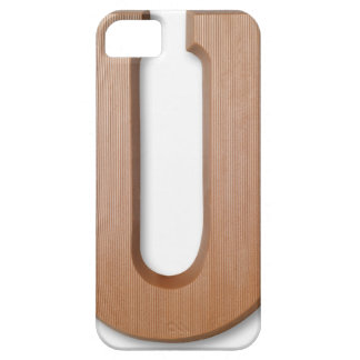 Chocolate letter u iPhone 5 cover