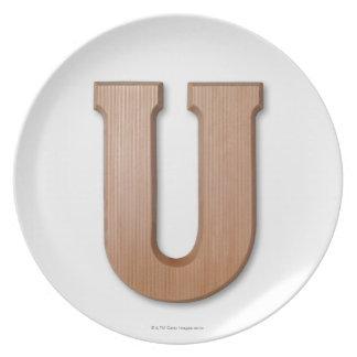 Chocolate letter u plate