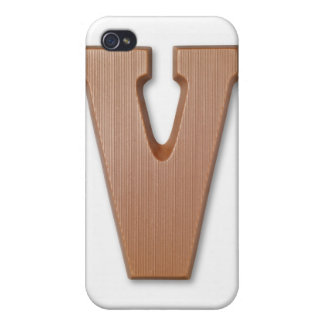 Chocolate letter v iPhone 4 cases