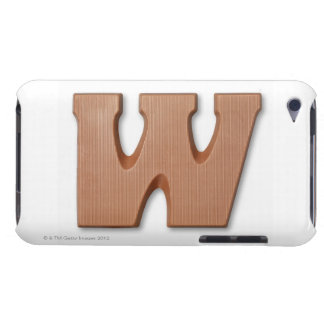 Chocolate letter w iPod Case-Mate case