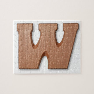 Chocolate letter w jigsaw puzzle