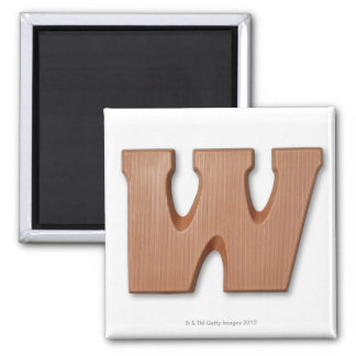 Chocolate letter w magnet