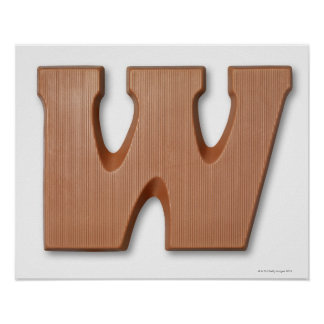 Chocolate letter w poster