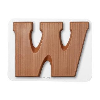 Chocolate letter w rectangular photo magnet