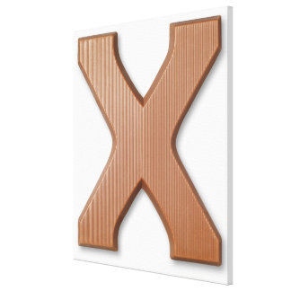 Chocolate letter x canvas print
