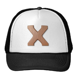 Chocolate letter X Cap
