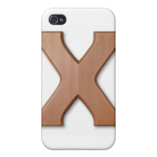Chocolate letter x covers for iPhone 4