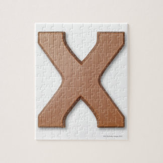 Chocolate letter x jigsaw puzzle