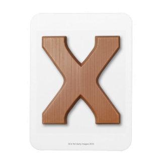 Chocolate letter x rectangular photo magnet