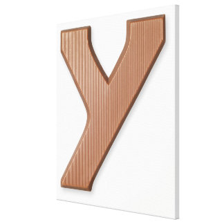 Chocolate letter y canvas print