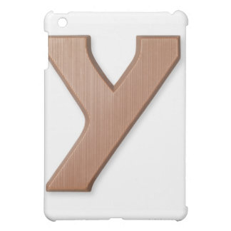 Chocolate letter y case for the iPad mini