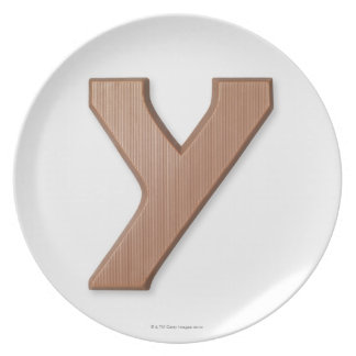 Chocolate letter y plate