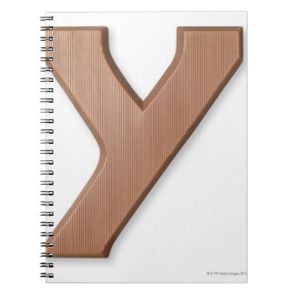 Chocolate letter y spiral notebook