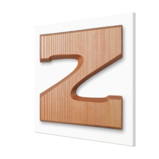 Chocolate letter z gallery wrap canvas