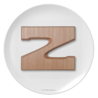 Chocolate letter z plate