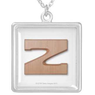 Chocolate letter z silver plated necklace