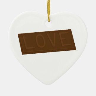 Chocolate Love Bar Christmas Ornament