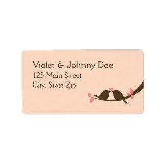 Chocolate Love Birds Address Label