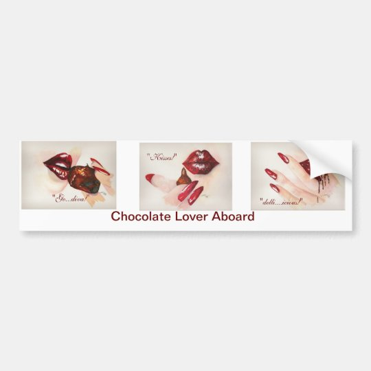 Chocolate Lover Aboard Bumper Sticker